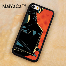 MaiYaCa Darth Vader Star Wars Printed Soft Rubber Mobile Phone Cases For iPhone 5 5S Back Cover For iphone SE Shell Cover(China)