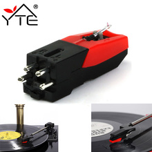 1 Pcs Red And Black Stylus for Phonograph Turntable Record Player Ceramic Phonograph Player Audio Gramophone Accessories(China)