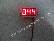 Mini 0.36 Digital Voltmeter dc 4.7-32V 2 wires Vehicles Motor Voltage Panel Meter led Display Color:Red