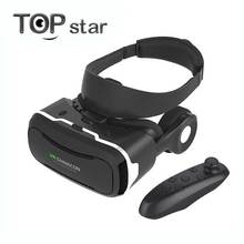 VR Shinecon 4.0 Headset Plastic VR Virtual Reality 3D Glasses Google Cardboard 360 Video for Phone 4.7-6.0 inch + Controller
