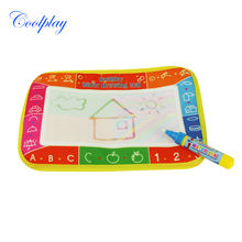 Coolplay 25X16.5cm CP1306 6 colors Water  Drawing Toys Mat Aquadoodle Mat &1 Magic Pen Water Drawing  board baby play mat