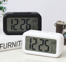 A057 temperature gauge alarm clock digital sound controlled projection  led Snooze Function With Backlight Touch Sensing