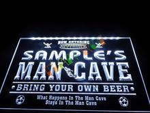 DZ034- Name Personalized Custom Man Cave Soccer Bar Beer Neon Sign hang sign home decor shop crafts(China)