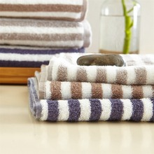 2016 hot selling New 3 pieces Combed cottonStriped bath towel set soft 3 colors bathroom beach cheap washcloth MJ-1232 YJ-5208
