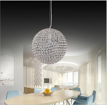 led crystal chandeliers LED round crystal restaurant chandeliers bedroom study crystal chandeliers for voltage 90-260V(China)