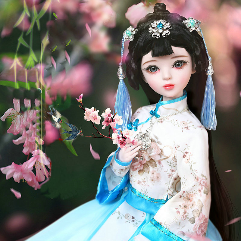 BJD Doll 1//3 60cm Ball Jointed Princess Girl Dolls Face Makeup Clothes Shoes Set