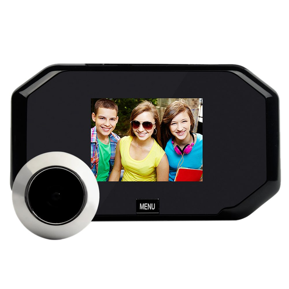 3.0-inch digital doorbell security camera,200-megapixel camera,145 degree wide-angle doorbell security camera<br>