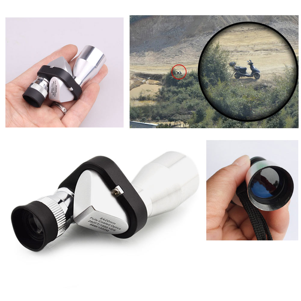 New Mini Pocket 8x20 HD Corner Optical Monocular Telescope Eyepiece for Outdoor Modern design 2017