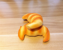 New Cute 11 * 5.5 cm CROISSANT bread squishy charm / mobile phone strap / Retail