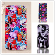IMD Heart Printing Cell Phone Cases For Iphone 5 Case Colorful Hard Back Cover For Apple iphone 5s Cellular Shell Cover Capa