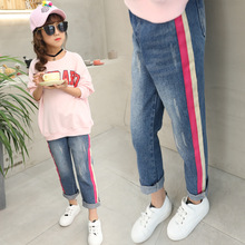 Baby Casual Pants for Girls 5 Denim Trousers Autumn Jeans 8 Trousers for 13 Kid Brand Spring Children Solid Pants Teenage Pants