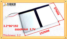 3.7v 8000mAh For Teclast X98 air 3G P98 3G Tablet PC Battery 3 wire  X98   X98 AIR  p98 X98 P98HD P98