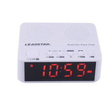 2017 New LEADSTAR Portable Wireless Bluetooth Speakers Alarm Clock FM Radio 3.5 inch LED Screen Handsfree Calls Support TF Card