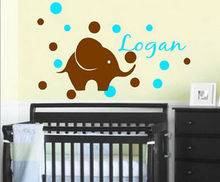 G282 Personalized Your Own Name Baby Elephant Bubbles Wall Stickers Decals Vinyl DIY Children 's room wall stickers decorative