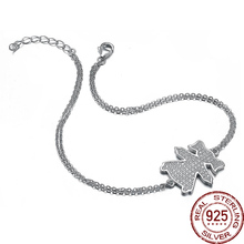 Aceworks Girl Original Full 925 Sterling Silver Charms Bracelet Bangle for Women Party Solid Jewelry Elegant Girl Gift(China)