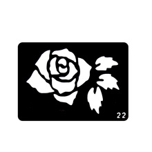 1 Piece Rose Flower Tatoo Template Reusable Airbrush Stencil So Beautiful Plant Art Body Henna Tattoo Templates T001-022 EE(China)