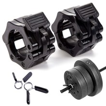 "2 x 1"" 2"" Barbell Collar Standard Olympic Spinlock Clamp Dumbbell Spring Clips GYM 25mm 28mm 30mm Weightlifting Barbell Jaw Lock"