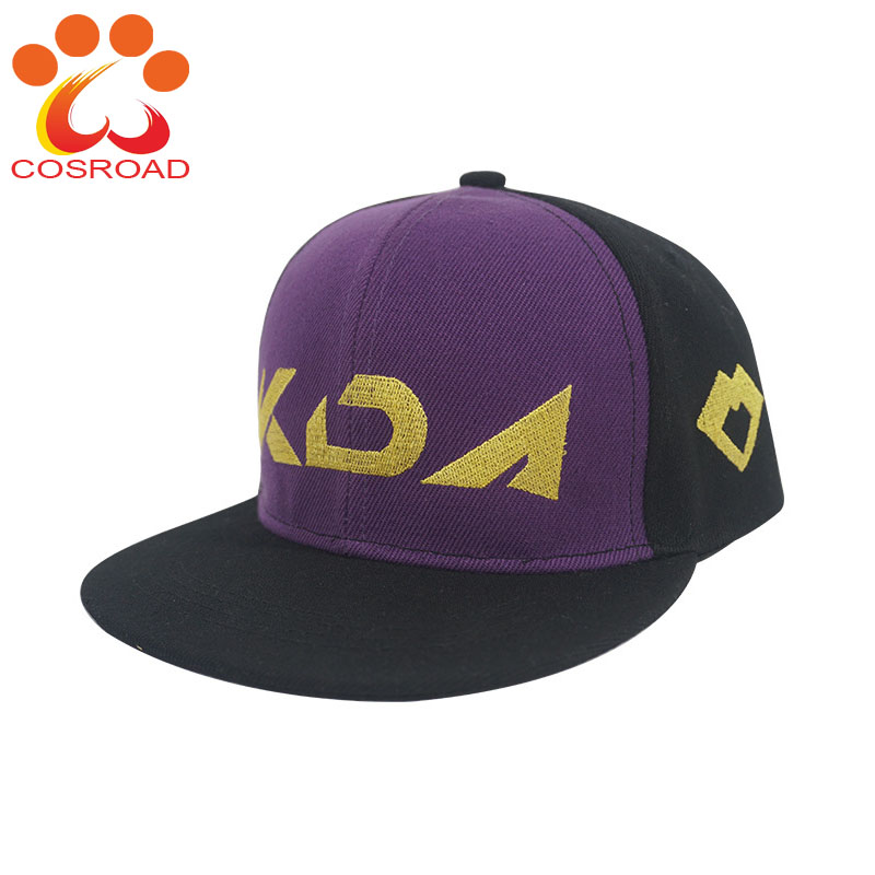Cosroad LOL KDA Akali Baseball Cap Women Hat Akali Wig Mask Cosplay Costume Accessories