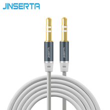 JINSERTA Jack 3.5 mm Aux Audio Cord Car Amplifier Aux Cable for Music Player Phone Headphone Laptop MP3 players(China)