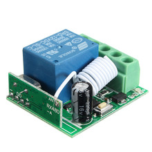 DC 12V 10A 1 Ch Wireless Relay RF Remote Control Switch Heterodyne Receiver 433MHz Remote Controller 3.5cm*3cm*1.6cm