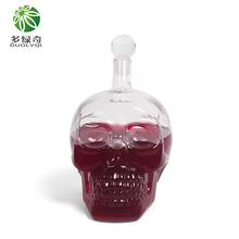 whiskey decanter wine accessories crystal cup head wine glass bar measure skull cup for wine(China)