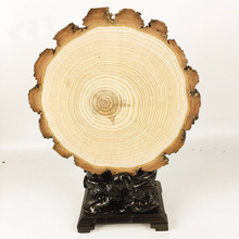 PINJEAS Wood Slice (12-25cm H 20mm) natural wood decoration diy wood craft  rustic wedding decor tree slices for christmas etc.