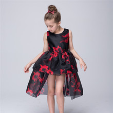 Formal Evening Gown Print Wedding Princess Dress Children Clothing Kids Piano Tail Dresses for Girls Tutu Party Clothes GDR181
