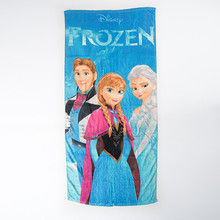 3styles 75*150cm Cartoon FROZENNED Towels baby bath towel Children Beach Bath Towel Cartoon Princess Girls Bikini Covers
