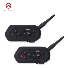 Helmet Intercom 2 pcs E6 Helmet Intercom 6 Riders 1200M Waterproof Motorcycle Bluetooth Intercom About 300 Hours Standby Time