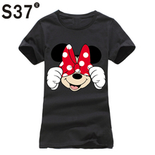 Buy S37 Womens Clothing 2017 Summer T Shirt Women Casual Funny Mouse Tops Tees Short Sleeve O-neck Harajuku Female Ladies T-Shirt for $4.11 in AliExpress store