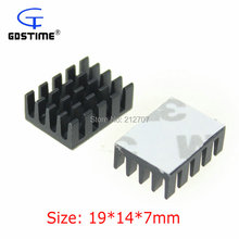 500 Pieces/lot Gdstime Aluminum Radiator 19x14x7mm Mini Chip Card Fins Routers Cooler Heatsink(China)