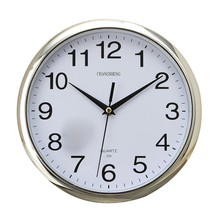 Large Vintage Round Modern Home Bedroom Retro Time Kitchen Wall Clock Quartz Sliver