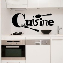 Cute Wall Stickers Cuisine French Vinyl Home Wallpaper Sticker Mural Art Wall Decor Kitchen Vinyl Wall Decal Home Decoration