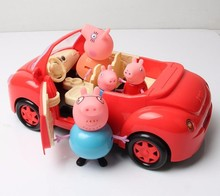 pink  pig variety of color Car 4pcs Family & Picnic Foods Hot Cartoon Toys kids Best Gift Pig Toys K20-24