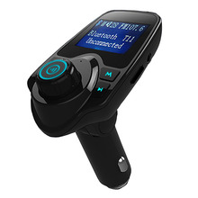 MOONBIFFY Bluetooth Car Kit Hands Free FM Transmitter Handsfree Music Receiver 5V Dual USB Charger Wireless Car MP3 Player T11