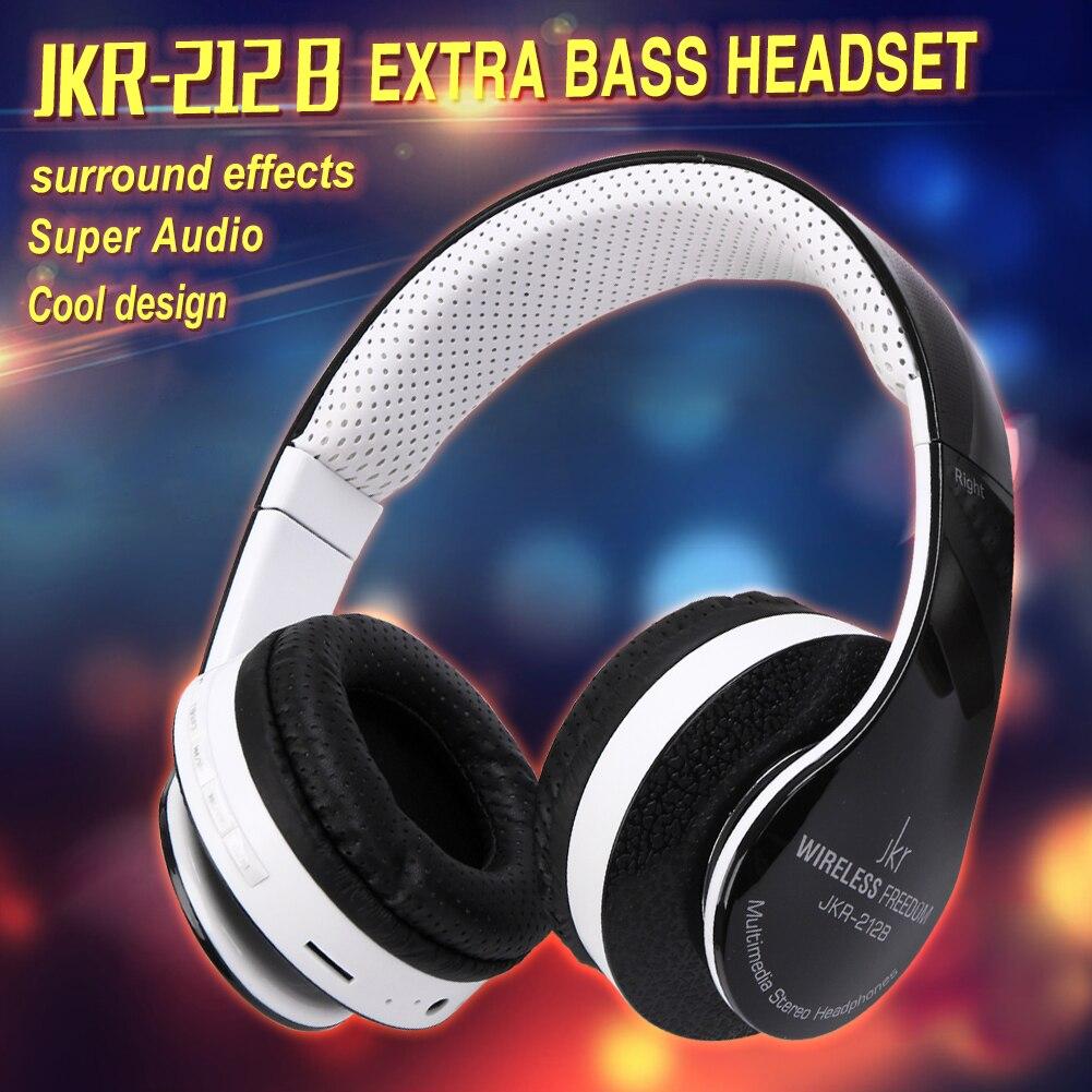 Free Shipping JKR-212B Wireless Stereo Bluetooth Headset Earphone Mic/TF/FM Support iPhone/iPad/HTC/Samsung/tablet PC EG9541<br><br>Aliexpress