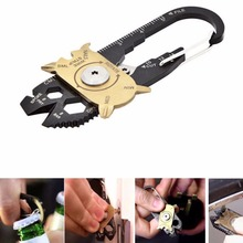 EDC Multipurpose mini gadget fixr Multifunctional carabiner multi tool key pocket survive true utility ring camp hike outdoor