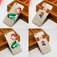 Fashion Mermaid Snow White Openwork Phone Case Cover For iphone 5 5s SE 6 6s Plus 7 7Plus Soft silicone TPU Logo Design
