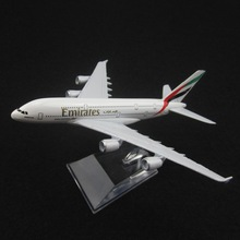 16cm Alloy Metal Air Emirates A380 Airlines Airplane Model Airbus 380 Airways Plane Model w Stand Aircarft Toy Gift(China)