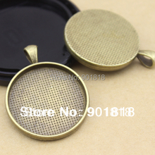 10pcs/lot  inner size 30mm antique bronze Blank Pendant Trays, Blank Pendant ,Blanks Pendant Bases, Pendant Settings F642