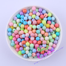 New Color Mix Lot 8MM 1700Pcs Chunky Solid Beads Pastel Color For Necklace Making Girl DIY Material For Ebay CDWB-517672