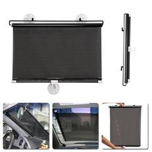 1PC 40cm*60cm Auto Retractable Side Window Car Sun Shade Curtain Windshield Sunshade Shield Cover Mesh Visor Shield for Cars