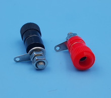 50Pcs JS-919 Binding Posts Speaker Terminal for 4mm Banana Plug Red and Black Each 25(China)