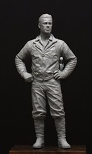 Unpainted Kit 1/16  120mm WW2 US Tank Commander 120mm   figure Historical WWII Figure Resin  Kit Free Shipping