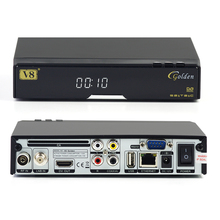 Dgital satellite receiver hd DVB S2 T2 Cable V8 Golden instead of V8 pro Set top box support CCCAM Powervu Patch Youtube(China)