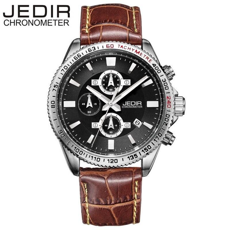 2017 JEDIR Mens Casual Wristwatches Military Watches Sports Quartz Watch Brand clock Relogio masculino Gift Box Free Ship<br><br>Aliexpress