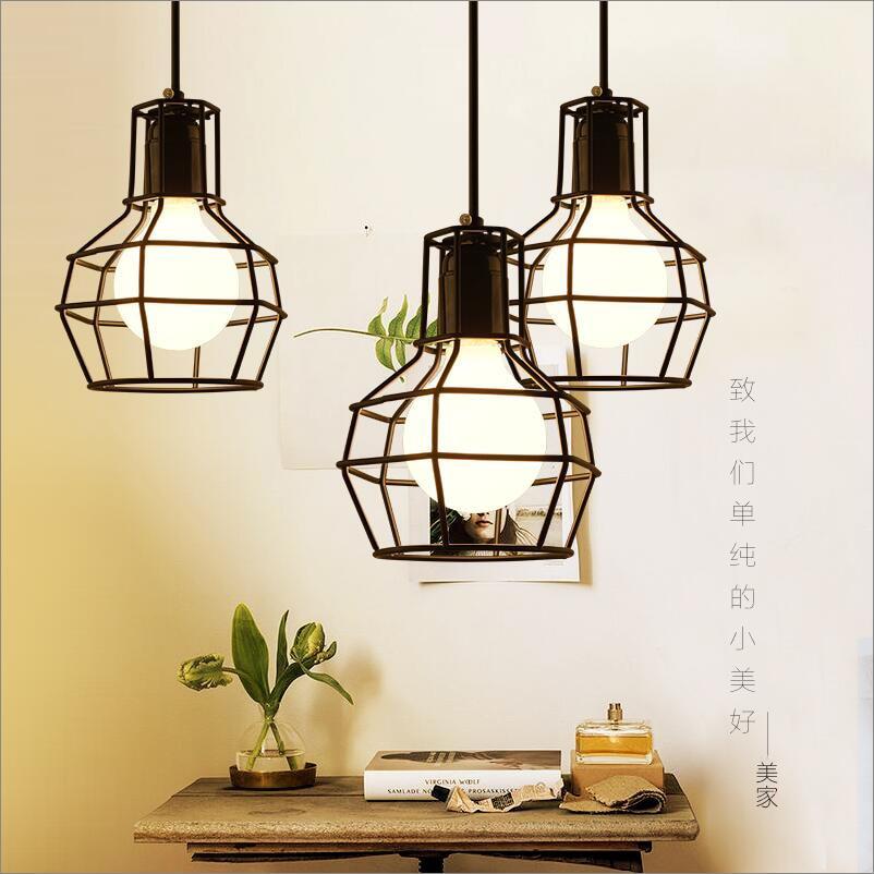 Loft Vintage Pendant Lamp Aluminum Iron Retro lighting fixtures Industrial Style lamparas de techo vintage Edison Pendant Lights<br>