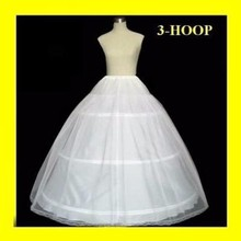 Cheap 3 Hoop Ball Gown Bone Full Jupon Crinoline Petticoats For Wedding Dress Accessories For Quinceanera Dress For Sale
