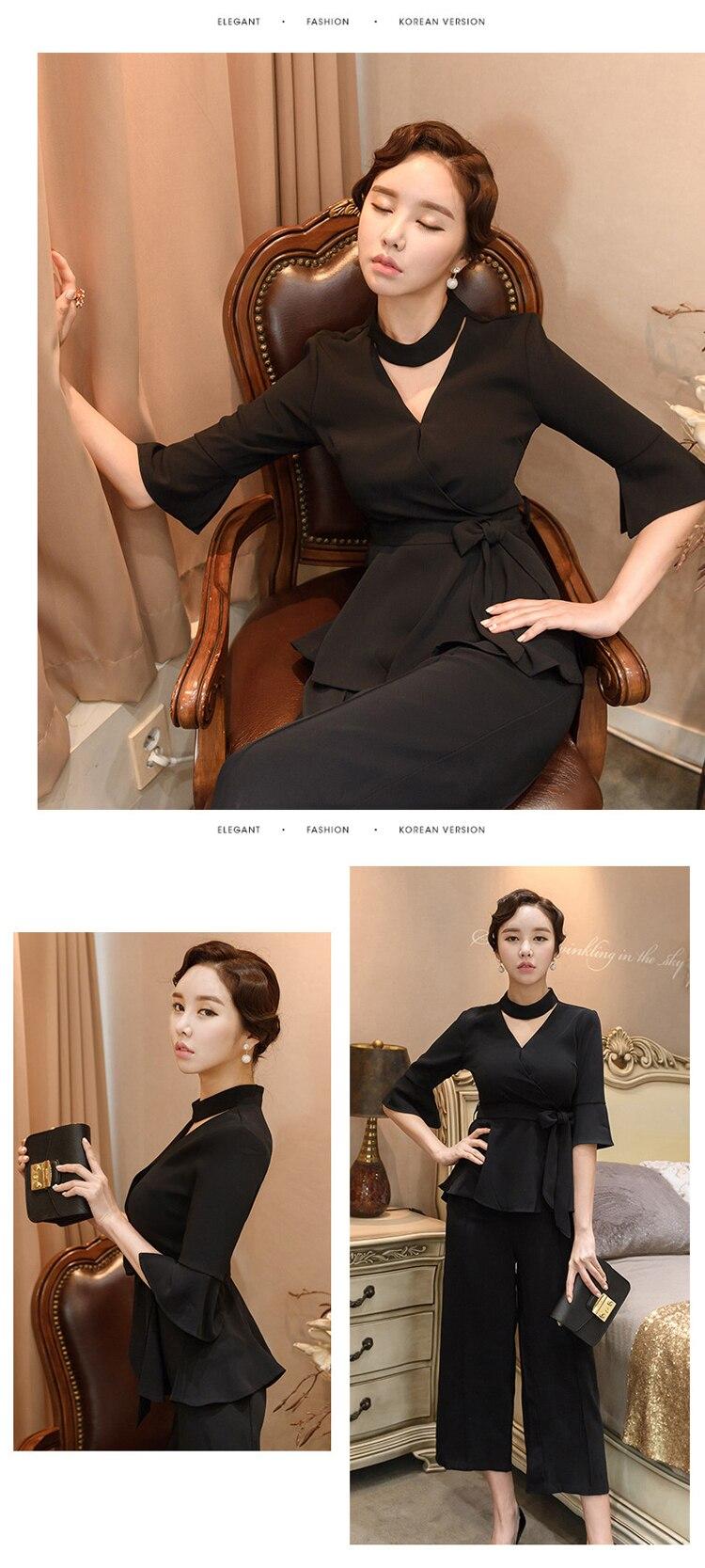 women elegant office work wear style pants suit autumn 0 (6)