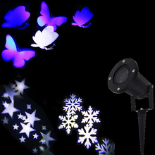 Christmas Lights Outdoor LED Snowflake Projector Light Star Projector Butterfly Light Waterproof Snow Laser Christmas Lights